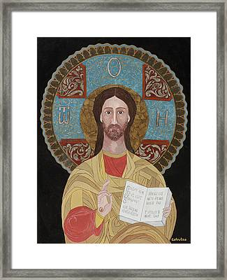 Jesus The Teacher Framed Print by Claudia French