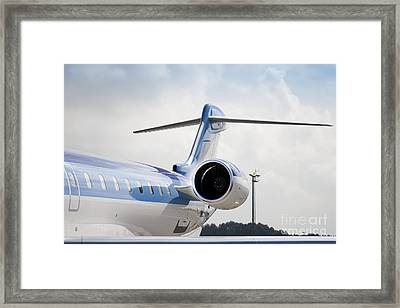 Jet Airplane Tail Framed Print