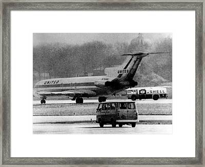 Jet Liner Hijacked To Cuba. The United Framed Print by Everett