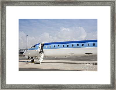 Jet Plane With Extended Steps Framed Print