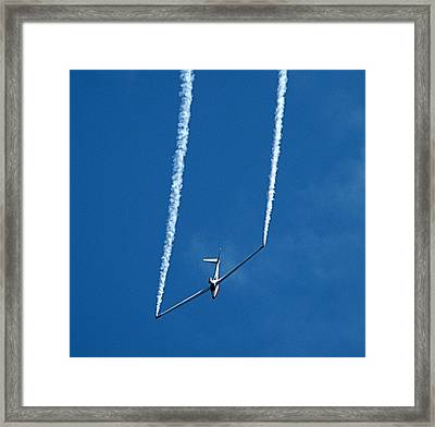Framed Print featuring the photograph Jet Powered Glider by Nick Kloepping