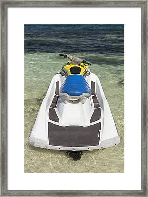 Jet Ski In Shallow Water At The Waters Framed Print by Bryan Mullennix