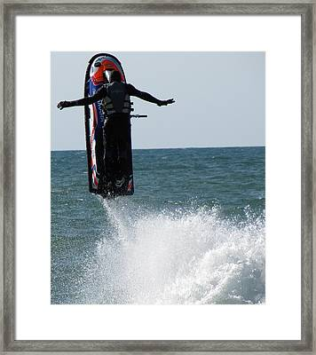 Framed Print featuring the photograph Jet Ski by John Crothers