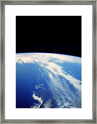 Jet Stream Clouds Framed Print by Nasa
