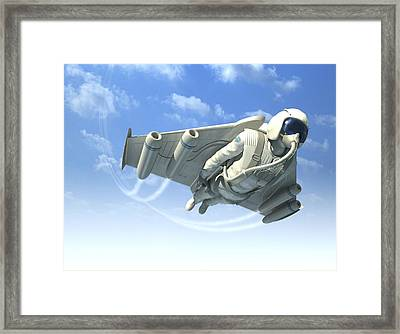 Jetman, Artwork Framed Print by Henning Dalhoff