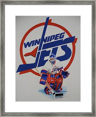 Framed Print featuring the painting Jets by Cliff Spohn
