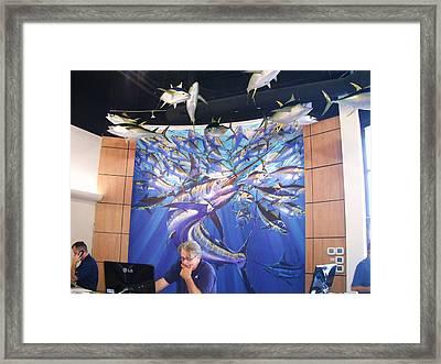 Jetson Mural Framed Print