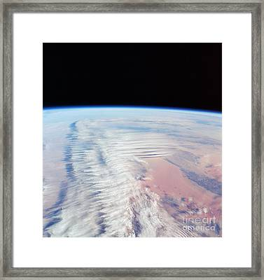 Jetstream Clouds Framed Print by NASA / Science Source