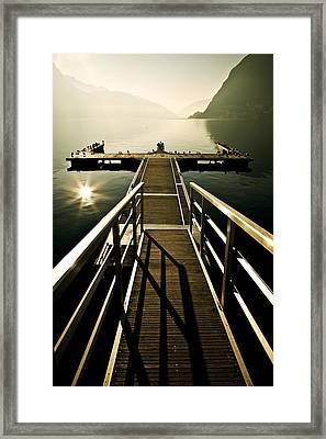 Jetty Framed Print by Joana Kruse