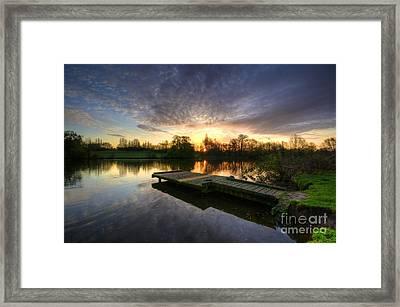 Jetty Sunrise 2.0 Framed Print by Yhun Suarez