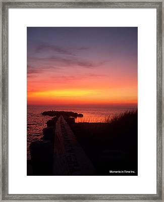 Jetty Sunset 1999 Framed Print