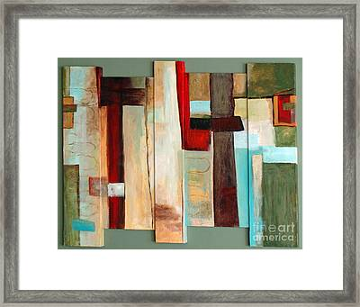 Framed Print featuring the painting Jewel Five by Phyllis Howard