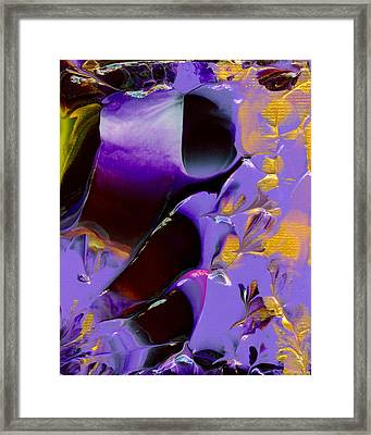 Jeweled Amethyst Framed Print by Nan Bilden