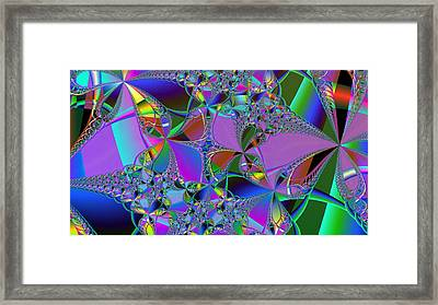 Framed Print featuring the digital art Jeweled Fantasy by Ann Peck