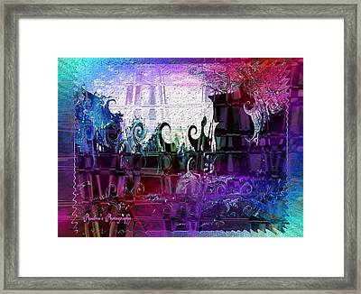 Framed Print featuring the digital art Jewell by Sadie Reneau