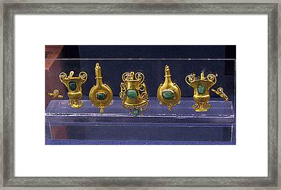 Jewellery With Gems Framed Print by Andonis Katanos