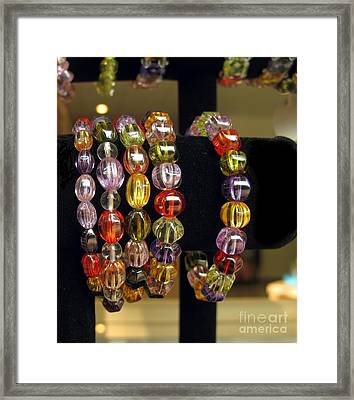 Jewelry On Display Framed Print