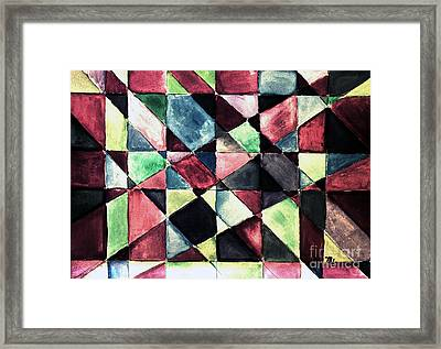 Jeweltone Quilt Framed Print by Marsha Heiken