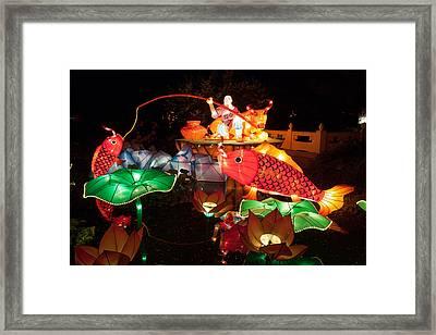 Jiang Tai Gong Fishing Framed Print by Semmick Photo
