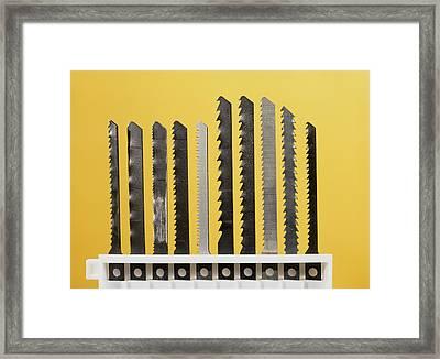 Jigsaw Blades Framed Print by Andrew Lambert Photography