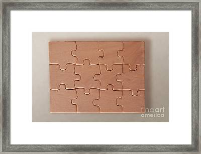 Jigsaw Puzzle Framed Print by Photo Researchers, Inc.