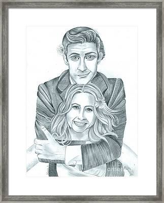 Jim And Pam Framed Print
