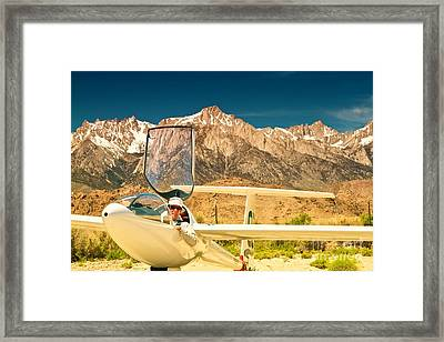 Jim Archer And Kestrel Sailplane Lone Pine California Framed Print