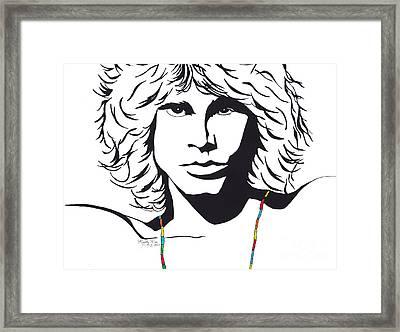 Jim Morrison Framed Print by Marty Rice