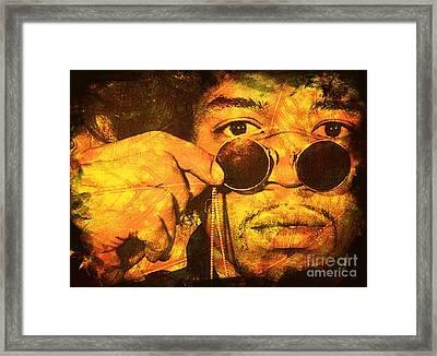 Jimi Framed Print by Ankeeta Bansal