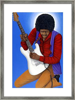 Jimi Hendrix  Framed Print by Larry Smart
