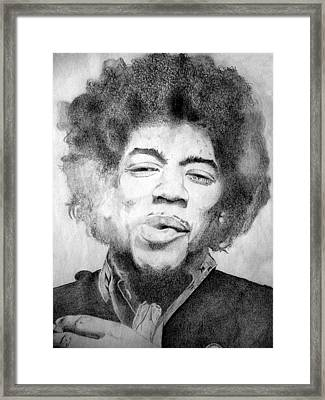 Jimi Hendrix - Medium Framed Print