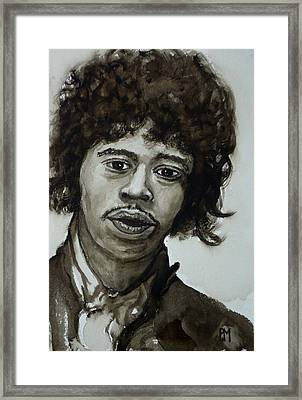 Jimi Framed Print by Pete Maier