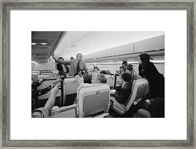 Jimmy Carter Holding An Informal Press Framed Print by Everett