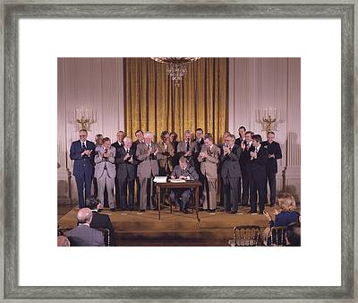 Jimmy Carter Signs The National Energy Framed Print by Everett