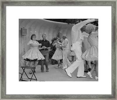 Jimmy Carter Square Dances Framed Print by Everett