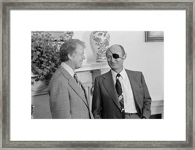 Jimmy Carter With Israeli Foreign Framed Print by Everett
