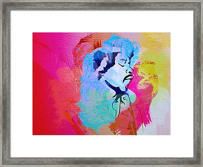 Jimmy Hendrix Framed Print by Naxart Studio