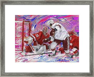 Jimmy Howard II Framed Print by Donald Pavlica