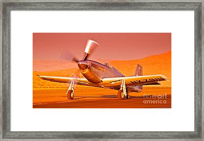 Jimmy Leeward And The Galloping Ghost Overtime Sunset Takeoff Framed Print