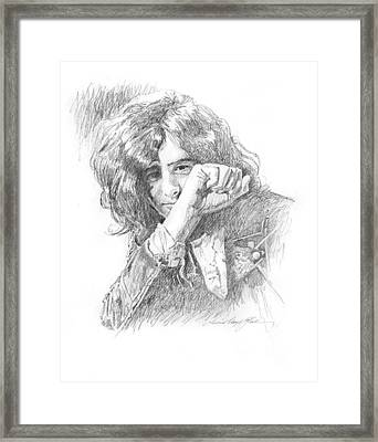 Jimmy Page In Person Framed Print by David Lloyd Glover