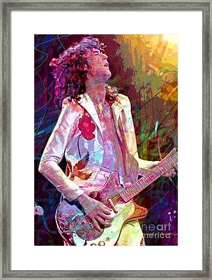 Jimmy Page Led Zep Framed Print