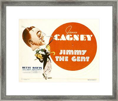 Jimmy The Gent, James Cagney, 1934 Framed Print