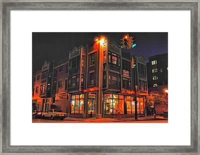 Jim's Steakout Framed Print