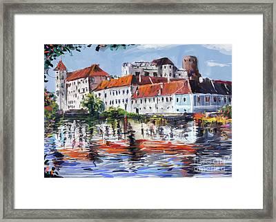 Jindrichuv Hradec City Framed Print