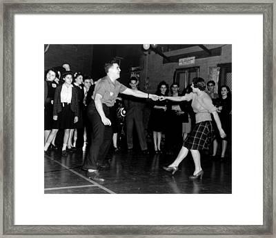 Jitterbug Dancers, Ca. 1943 Framed Print by Everett