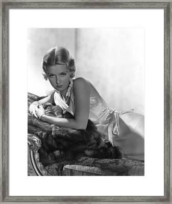 Joan Bennett, Reclining, In A 1933 Framed Print