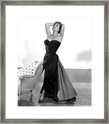 Joan Crawford, 1955 Framed Print by Everett