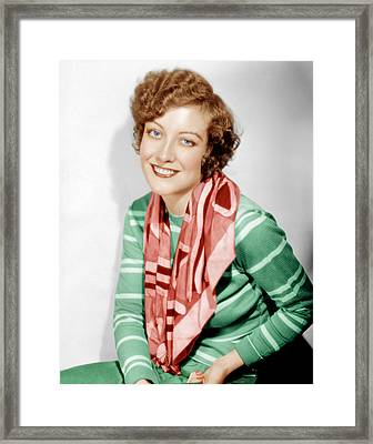 Joan Crawford, Ca. 1930 Framed Print by Everett