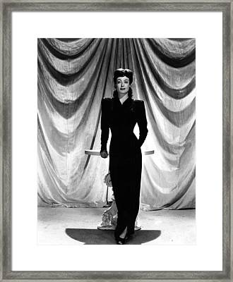 Joan Crawford, Ca. 1940s Framed Print by Everett