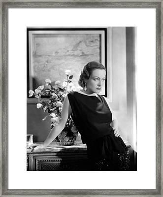 Joan Crawford, Ca. Early 1930s Framed Print by Everett
